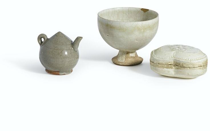 A 'Longquan' celadon lotus bud water dropper , Song dynasty