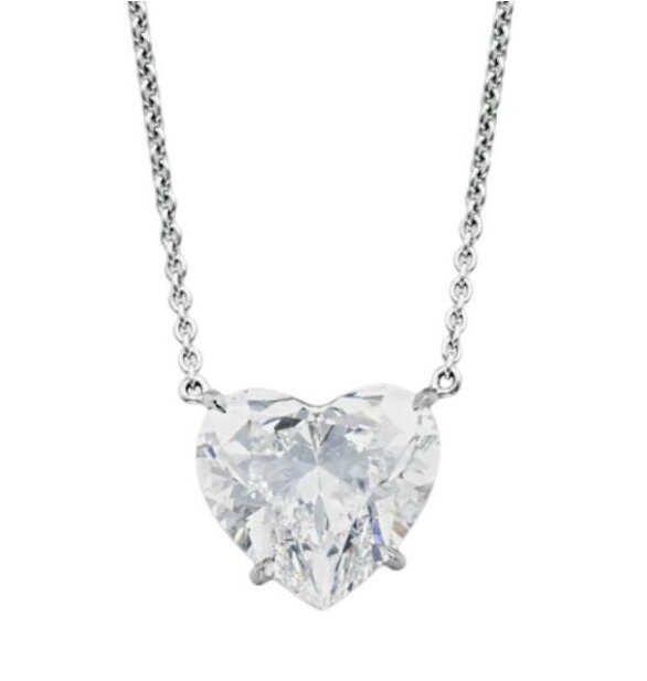 A fine diamond pendant necklace