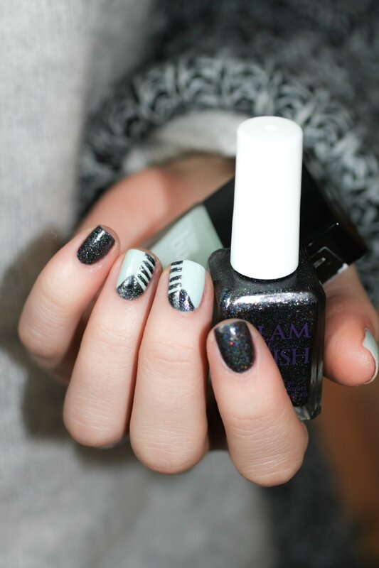 nail art fiver butter london glam polish the old black magic-5