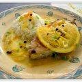 Darnes de daurade au poivre timut et sauce au beurre d'orange