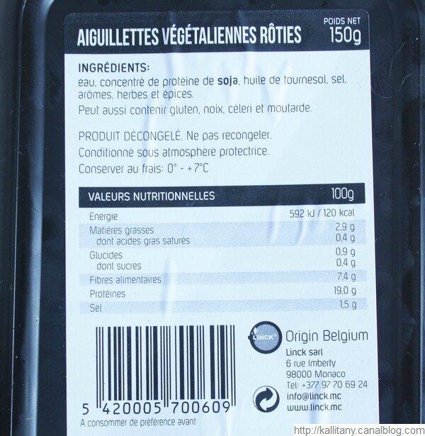 Substitut viande - viande végétale - Aiguillettes Vegan Deli (6)