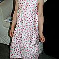 La robe sur mon petit modèle