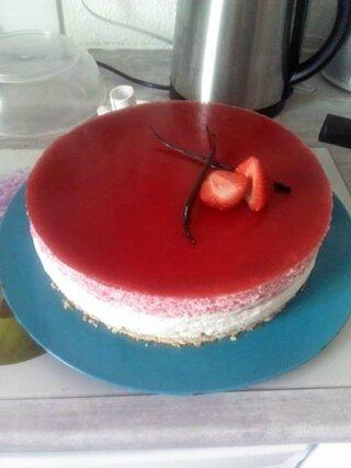 bavarois fraises vanille