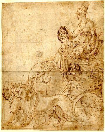 char_de_Rome_ou_Cybele_Baldassare_PERUZZI_1496_1536_British_Museum