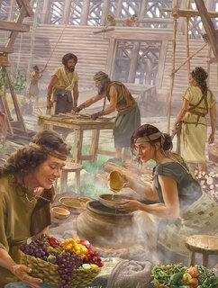 Noah-tous à la construction de l'Arche