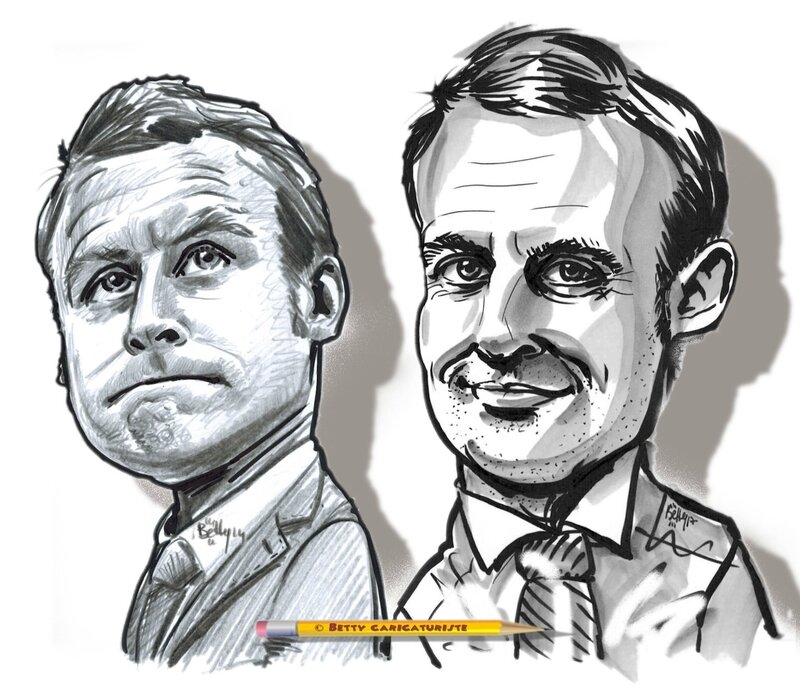 Emmanuel MACRON caricature cartoonist president republique francaise 2017 xxi eme siecle Betty caricaturiste