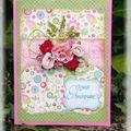 carte {bouquet de fleurs}