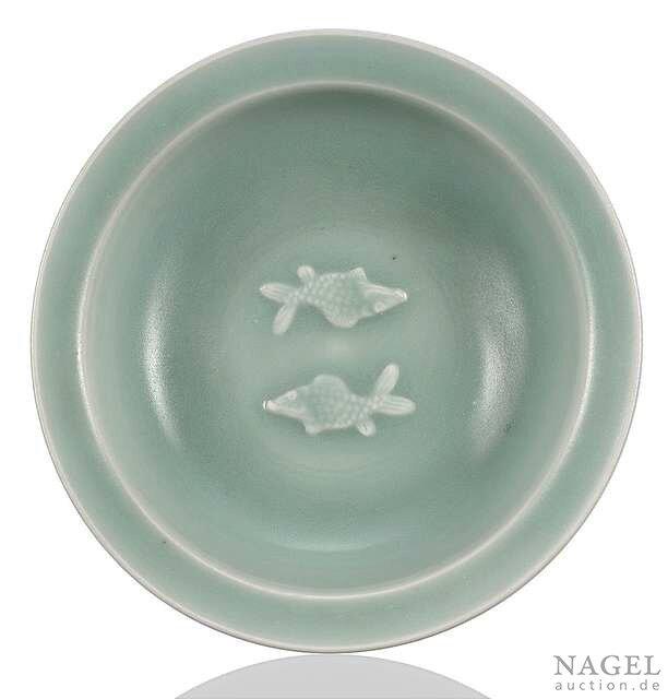A Longquan celadon 'twin fish' dish, China, Southern Song dynasty (1127-1279)
