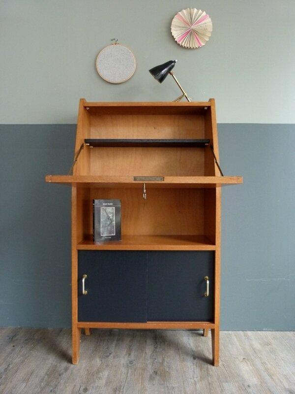 Bureau vintage secr taire ann es 50 60 design inclin pictures to pin on pinterest - Bureau secretaire enfant ...