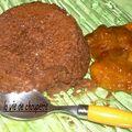 Mangue et gratin au chocolat