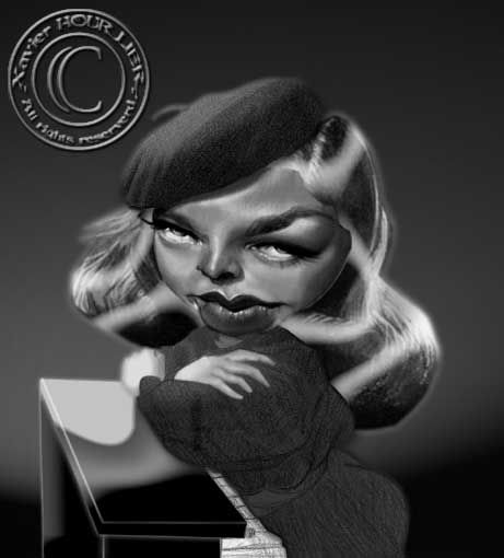 LAUREN_BACALL_piano_by_xavier_hourlier