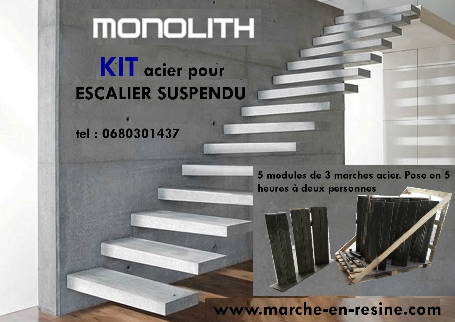 marche en resine pour escalier exterieur escalier. Black Bedroom Furniture Sets. Home Design Ideas