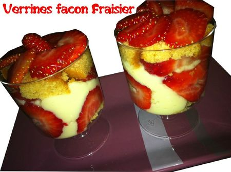 verrine fraisier