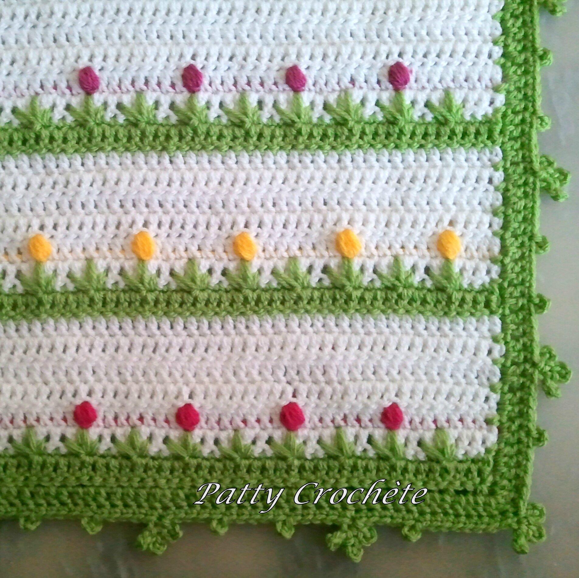 couverture fleur bébé Couverture Bébé Boutons de Fleurs   Patty crochète couverture fleur bébé