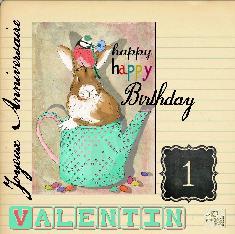 Joyeux Anniversaire Valentin Nfm Nath Fait Main