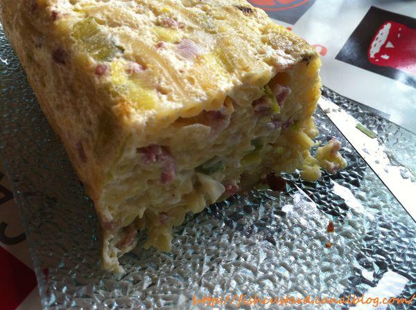 Gâteau de macaroni lardons-poireaux-gruyère (4)