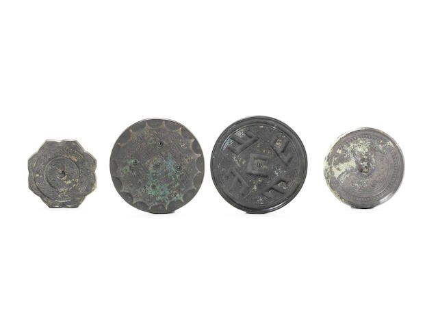 A small collection of bronze mirrors, Han Dynasty and later