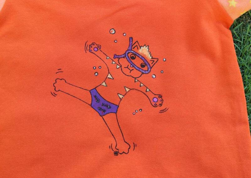 tiche orange dessin