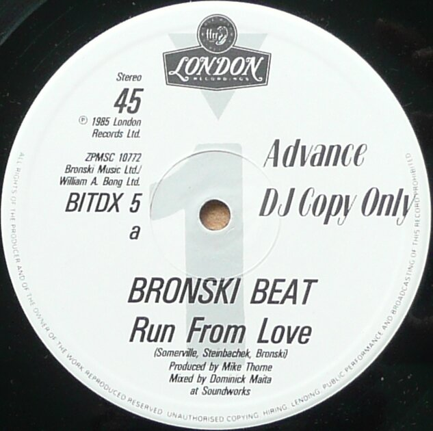Run From Love 12'' UK adv dj copy