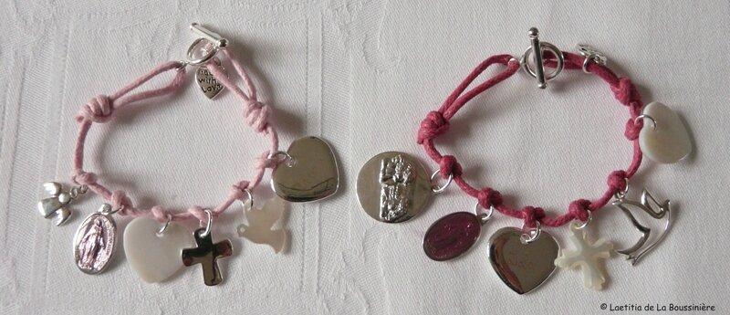 Bracelets pour le Baptême de Lola et Clara