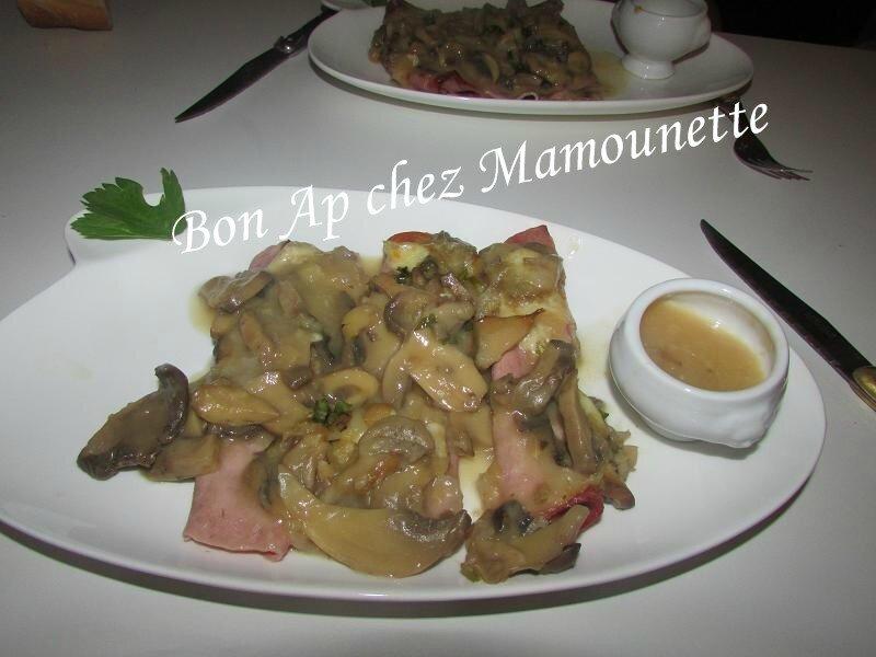 Jambon champignons sauce madère 021