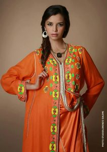 orangeCaftan orange moderne