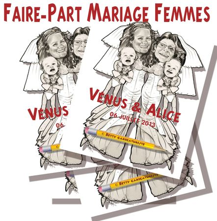 faire-part mariage lesbiennes gay