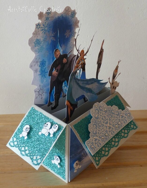 Card in a box Reine des Neiges - profil