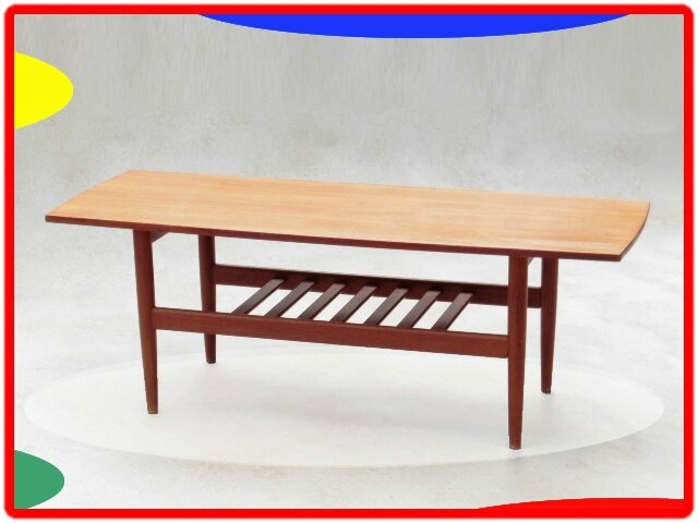 Table basse danoise grete jalk ann es 1960 teck vendu for Table basse danoise