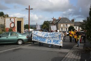 manifestation anti THT EPR Avranches 29 septembre 2012 Scriptorial