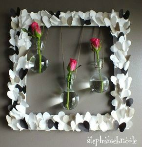 tuto dco, ide dco rcup, soliflore dans un cadre, diy wall decor bis