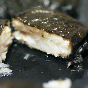 papillote d'églefin et nori cuite intérieur