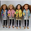 Retrouvailles des 4 poupées teen trends - reunion of the 4 teen trends dolls