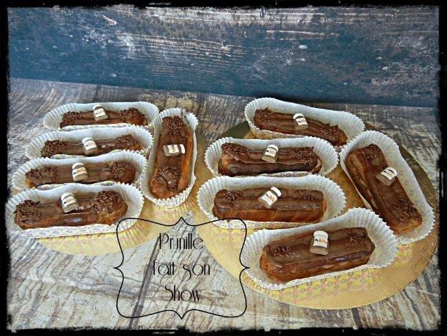 assortiment de petits gateaux cupcakes macarons et clairs prunille fait son show. Black Bedroom Furniture Sets. Home Design Ideas