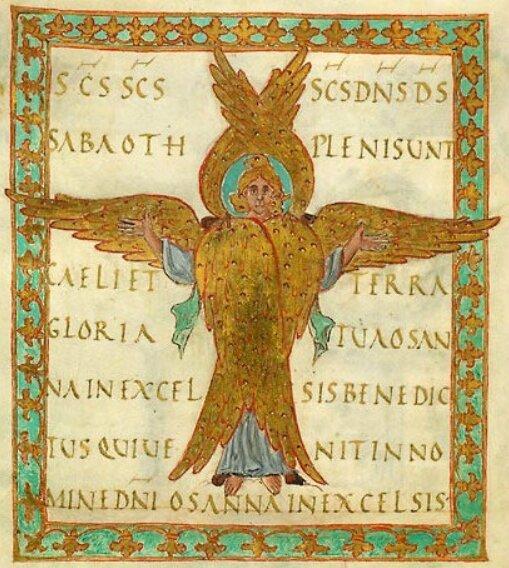 Sanctus grégorien noté au XIe siècle, BNF