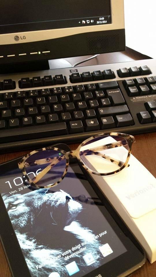 26641619ec1a40 Antifatigue Glasses - Le girly boudoir by Emilie Michel Grosjean