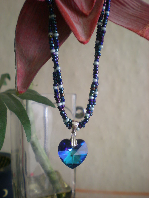 Petit coeur Bermuda blue