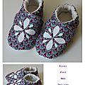 pack trio violet-bleu chaussons