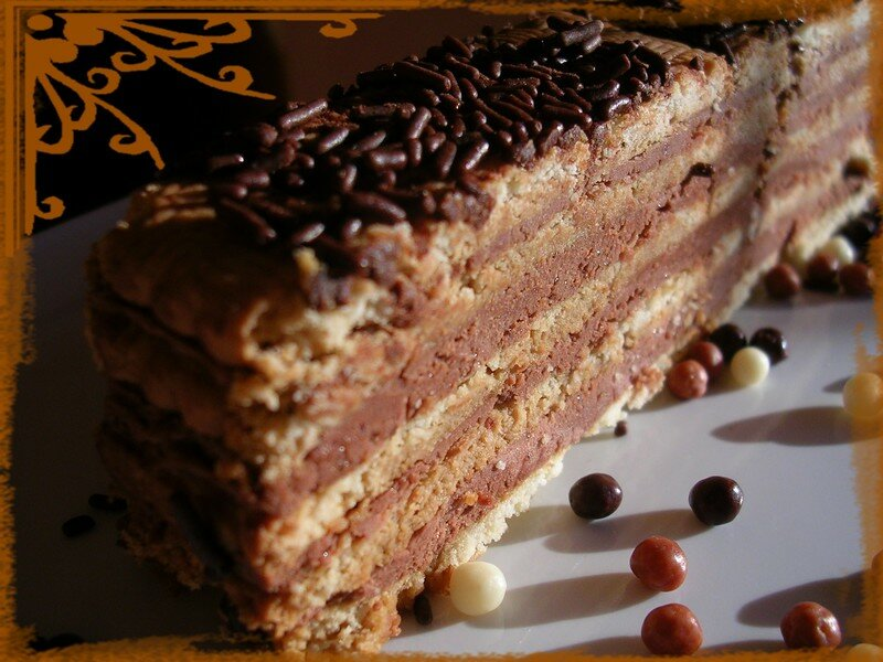 Gateau the brun chocolat cafe