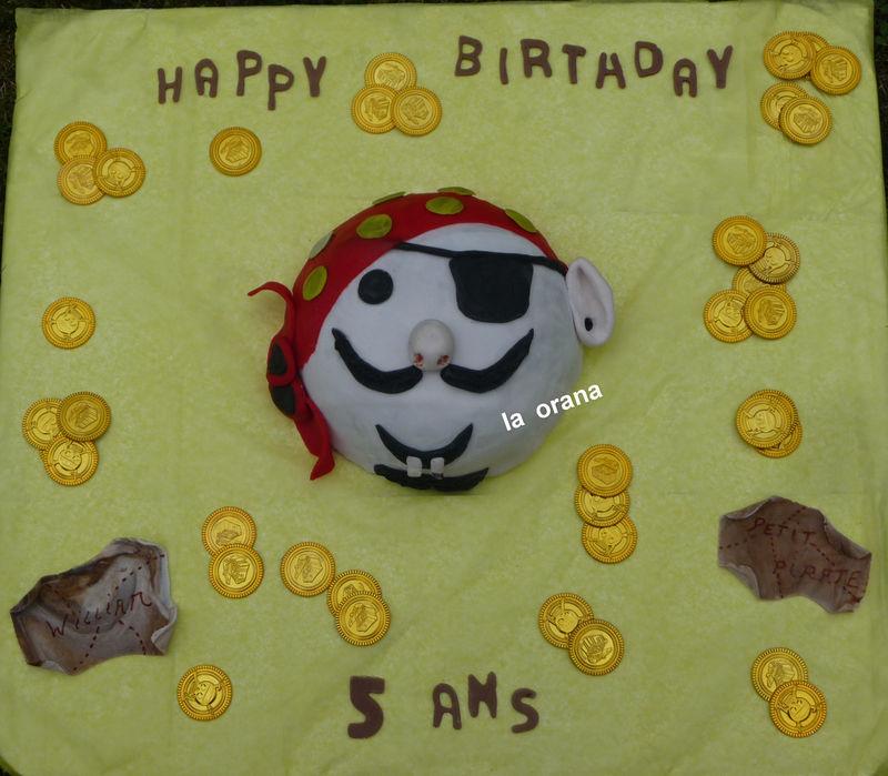 Gâteau Tête de pirate/Pirate gold cake