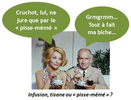 de funes tisane infusion pisse-meme the tasse film cinema