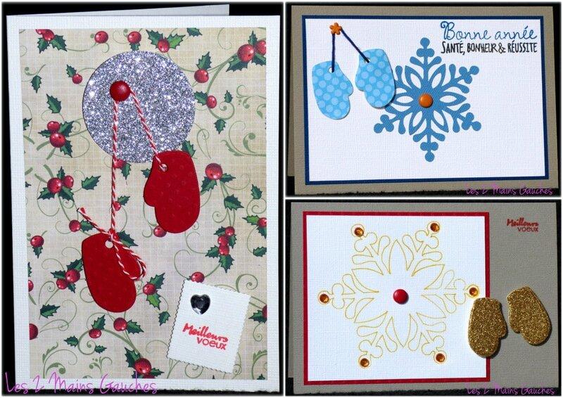 cartes de voeux avec moufles