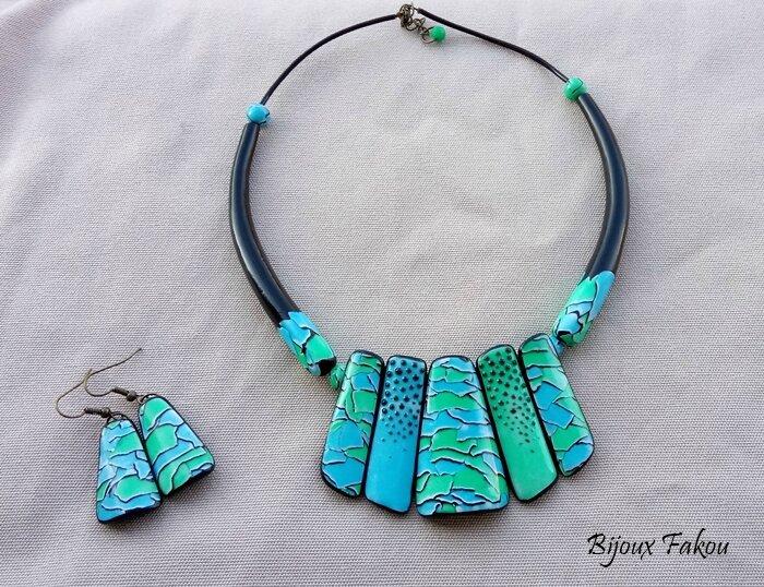 le water color mosaïc en bleu-vert pour janvier