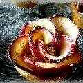 Tartelette aux pommes en roses