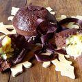 Financiers au chocolat coeur fondant à la frangipane . sans gluten