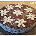 Gâteau flocons façon brownie.