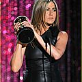 Jennifer Aniston leather minidress 218
