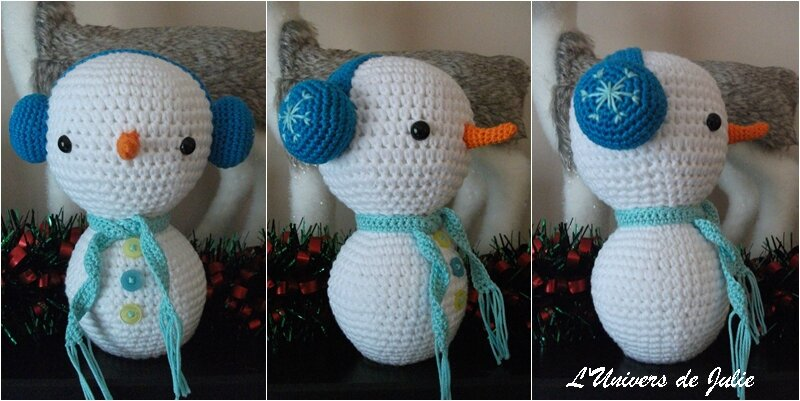 Bonhomme de neige Amigurumi Winter Wonderland Ilaria Caliri L'Univers de Julie