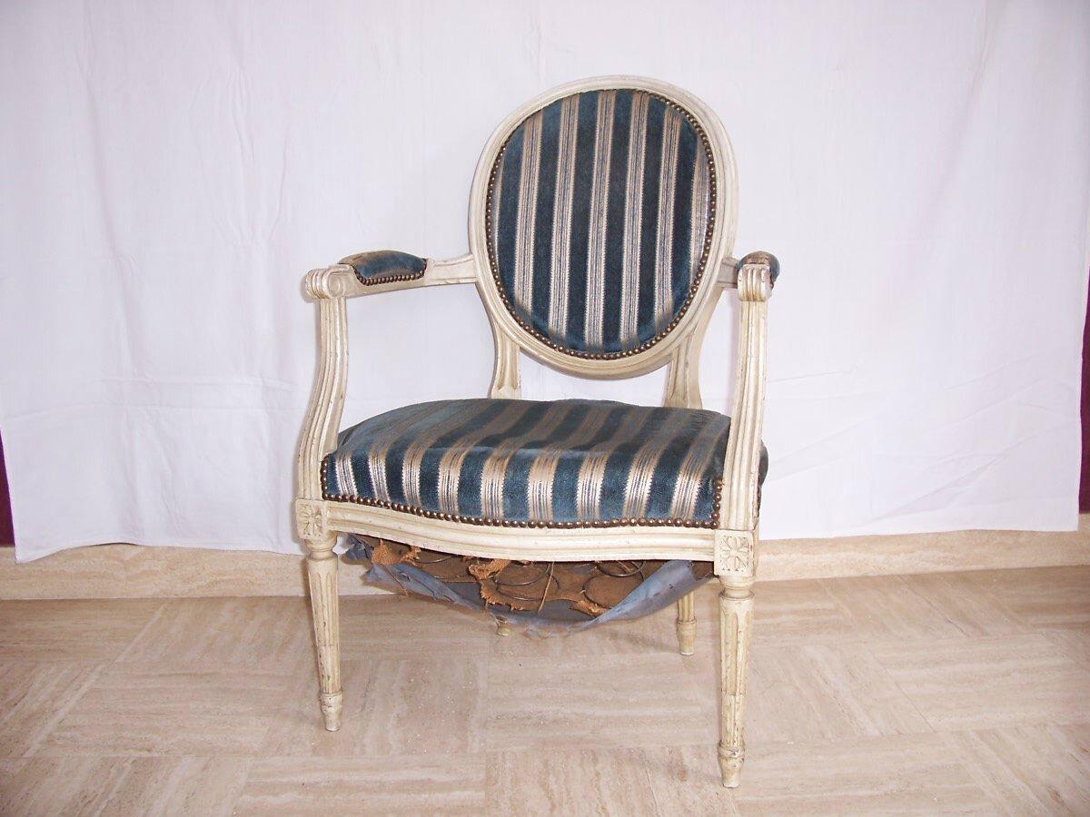 fauteuil m daillon louis xvi atelier st h lier. Black Bedroom Furniture Sets. Home Design Ideas
