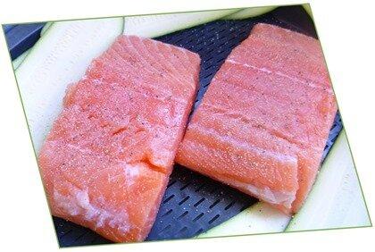 pavés de saumon, tagliatelles de légumes, sauce crémée au curry4